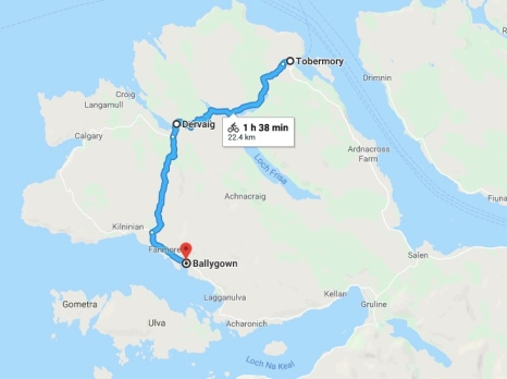 Tobermory to Ballygown